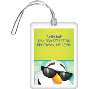 Cool Snowman Personalized Bag Tag (Each)