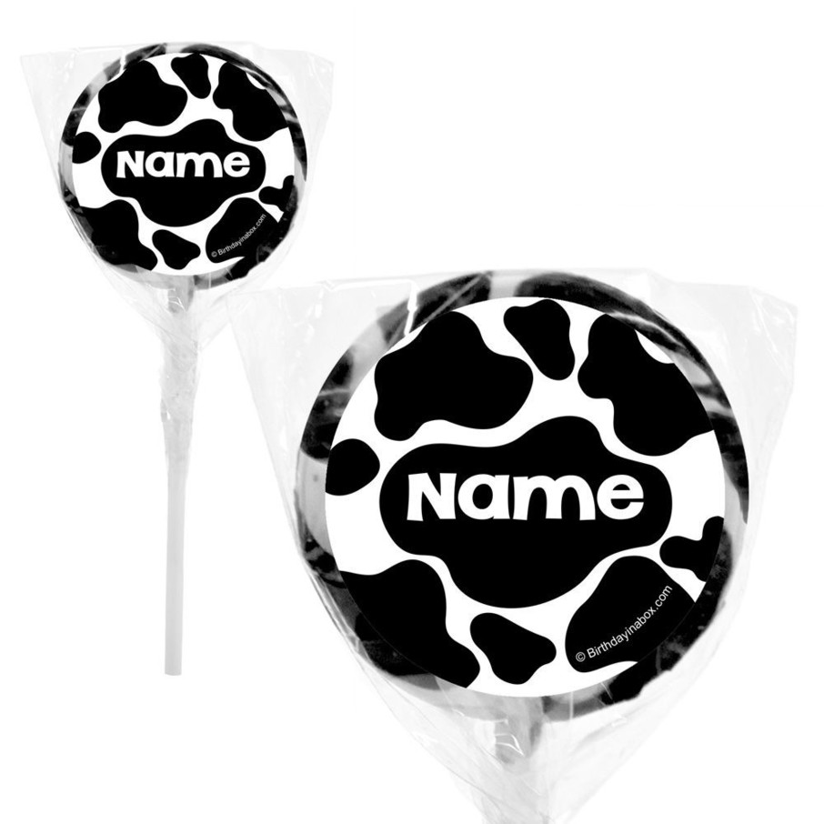 """View larger image of Cow Personalized 2"""" Lollipops (20 Pack)"""