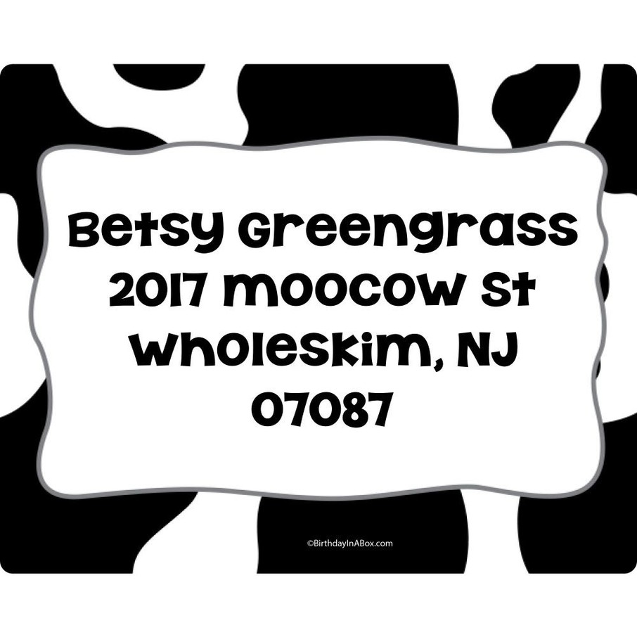 View larger image of Cow Personalized Address Labels (Sheet of 15)