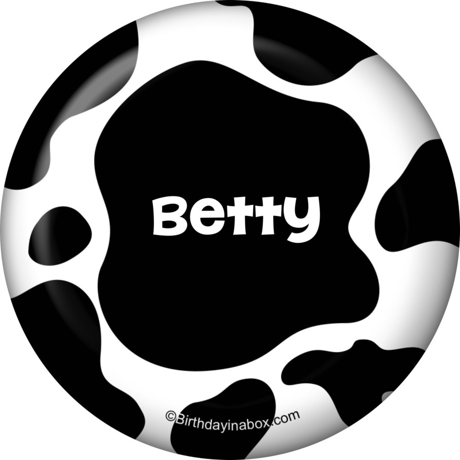 View larger image of Cow Personalized Button (Each)