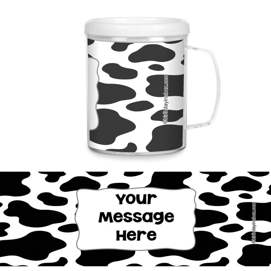 View larger image of Cow Personalized Favor Mugs (Each)