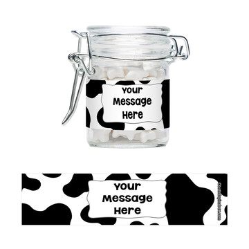 Cow Personalized Glass Apothecary Jars (12 Count)