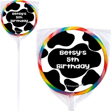 Cow Personalized Lollipops (12 Pack)