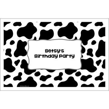 Cow Personalized Placemat (Each)