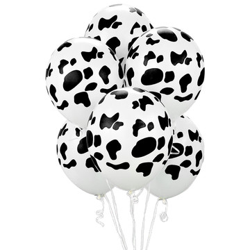 "Cow Print 11"" Latex Balloons (6 Pack)"