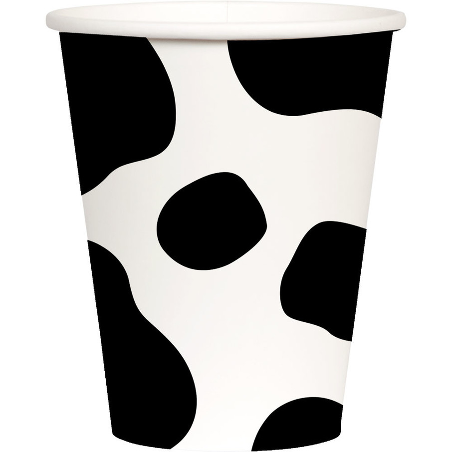 View larger image of Cow Print 9oz Paper Cups (8)