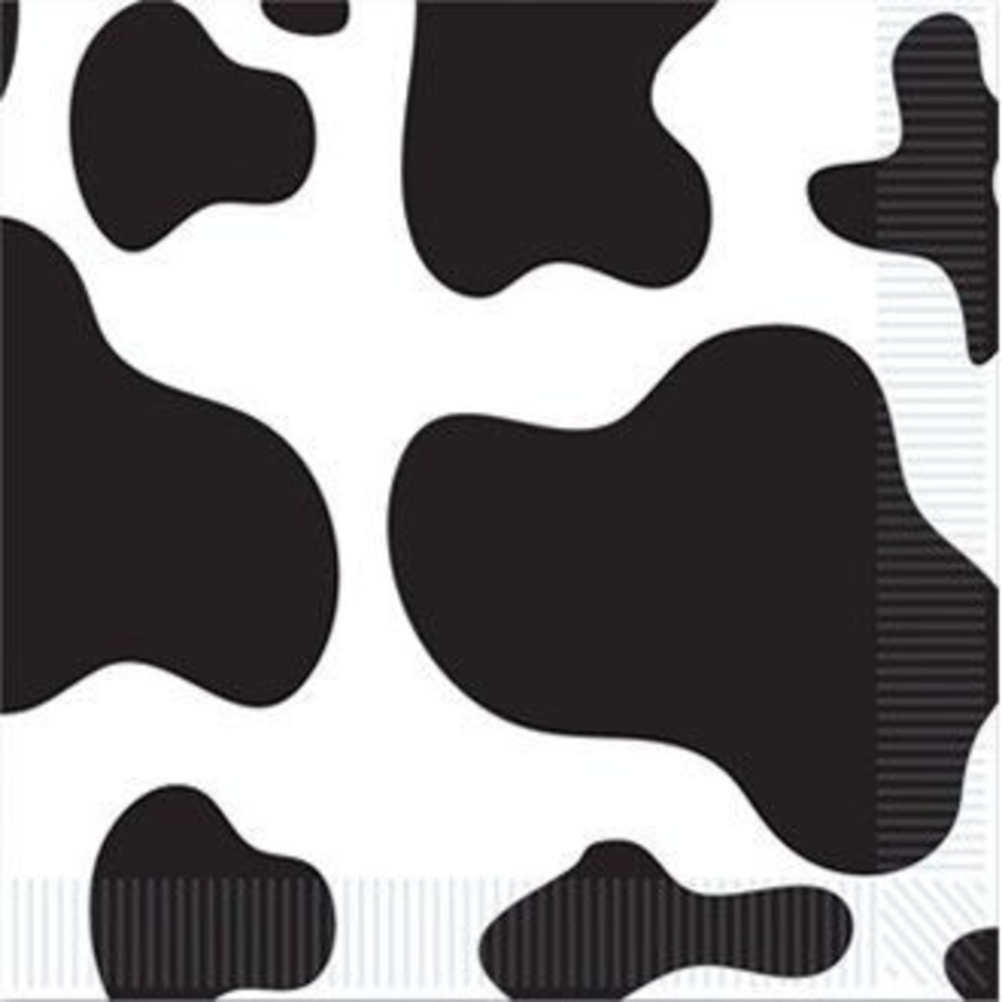 View larger image of Cow Print Beverage Napkins (16 Pack)