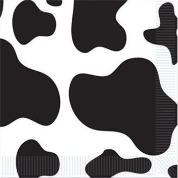 Cow Print Beverage Napkins (16 Pack)