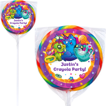 "Crayola Uni-Creatures Personalized 3"" Lollipops (12 Pack)"