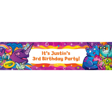 Crayola Uni-Creatures Personalized Banner (Each)