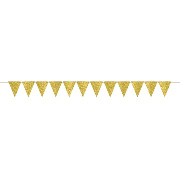 Create Your Own Glitter Gold Pennant Banner
