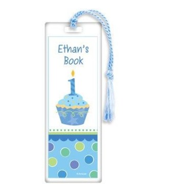 Cupcake 1st Birthday Boy Personalized Bookmark (each)