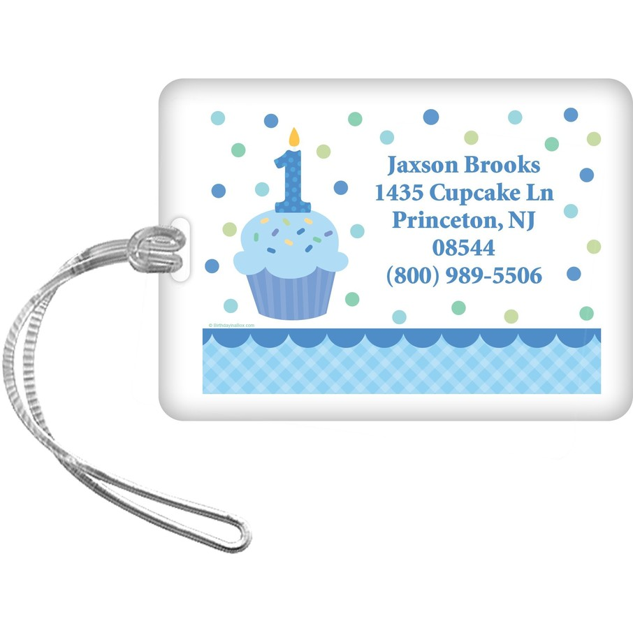 View larger image of Cupcake 1st Birthday Boy Personalized Luggage Tag (each)