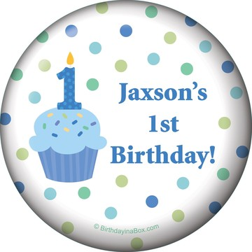 Cupcake 1st Birthday Boy Personalized Magnet (each)