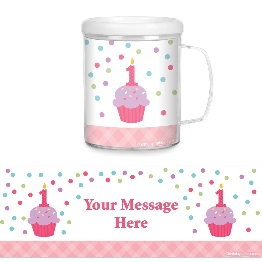 View larger image of Cupcake 1st Birthday Girl Personalized Favor Mugs (Each)