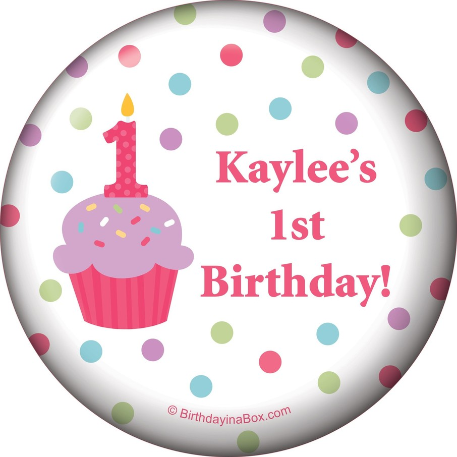 View larger image of Cupcake 1st Birthday Girl Personalized Magnet (each)