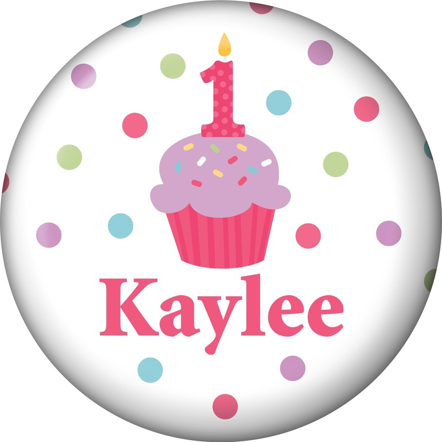 View larger image of Cupcake 1st Birthday Girl Personalized Mini Magnet (each)