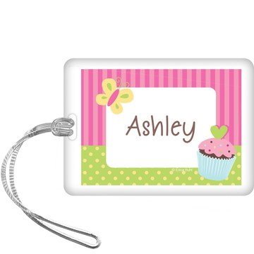 Cupcake Birthday Personalized Bag Tag (each)