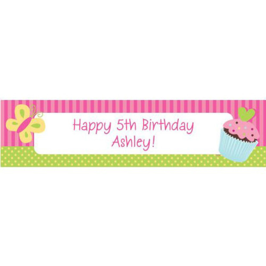 View larger image of Cupcake Birthday Personalized Banner (each)