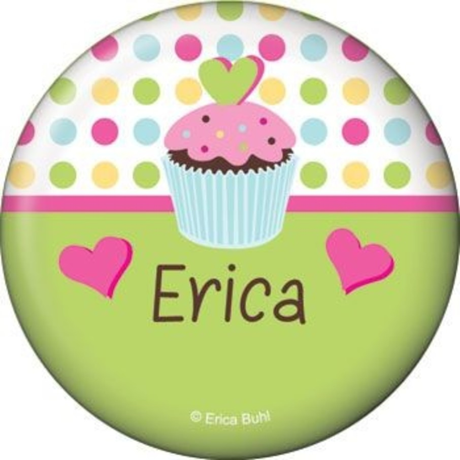 View larger image of Cupcake Birthday Personalized Button (each)
