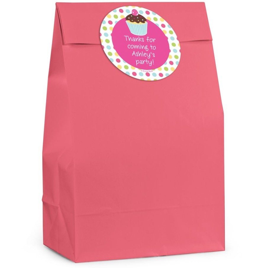 View larger image of Cupcake Birthday Personalized Favor Bag (Set Of 12)