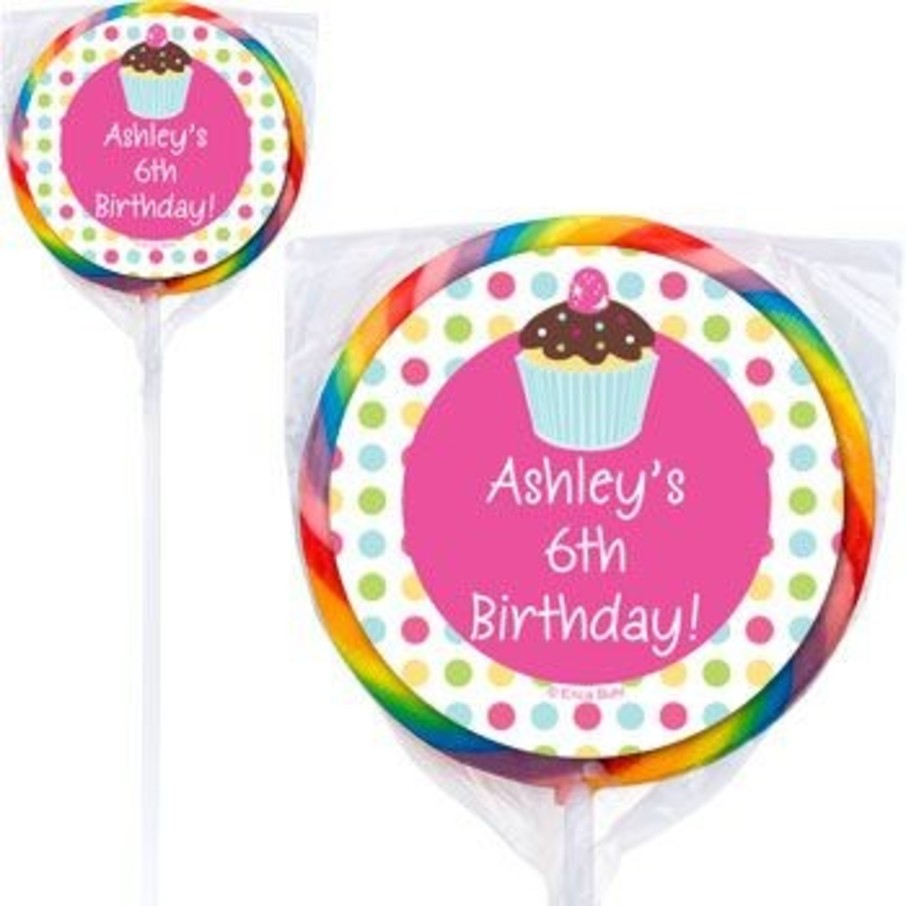 View larger image of Cupcake Birthday Personalized Lollipops (pack of 12)