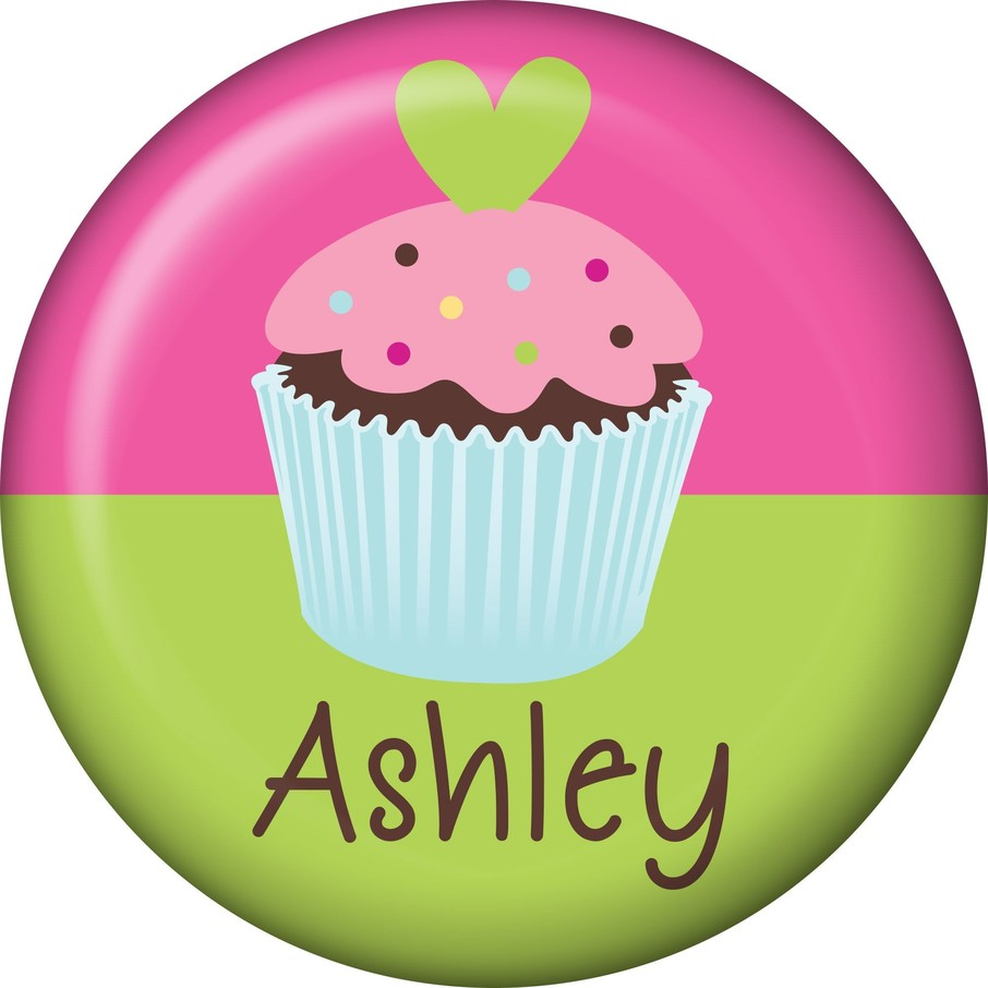 View larger image of Cupcake Birthday Personalized Mini Button (Each)