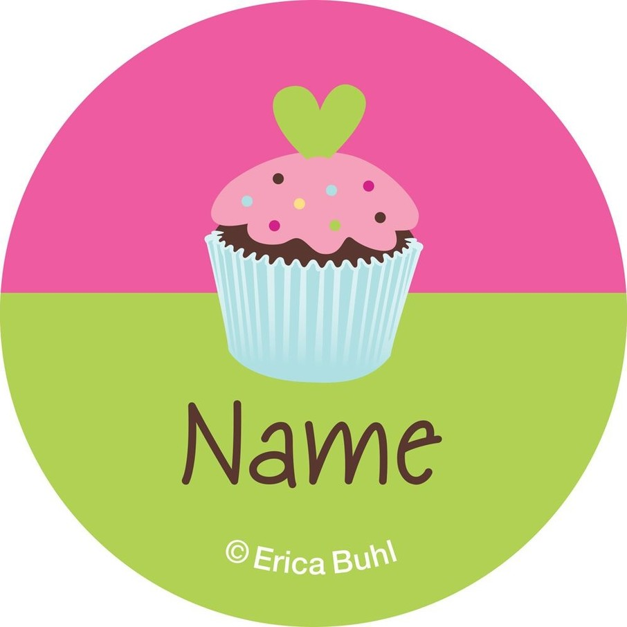 View larger image of Cupcake Birthday Personalized Mini Stickers (Sheet of 24)