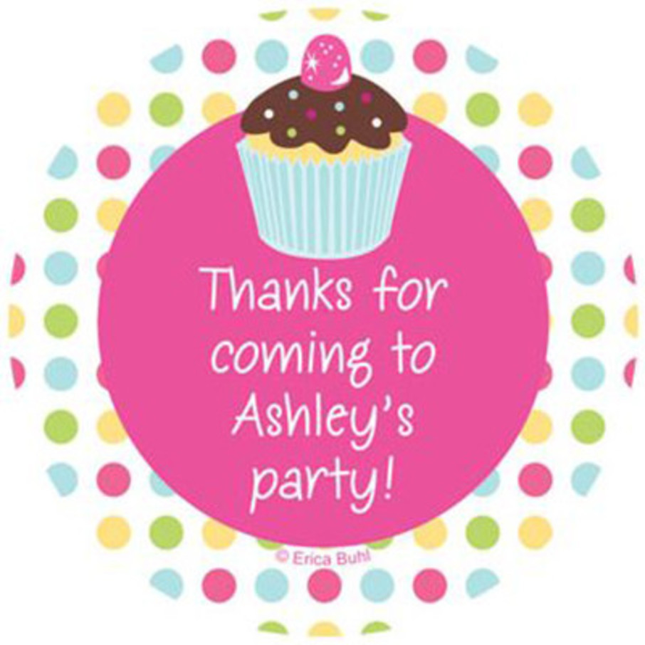 View larger image of Cupcake Birthday Personalized Stickers (sheet of 12)