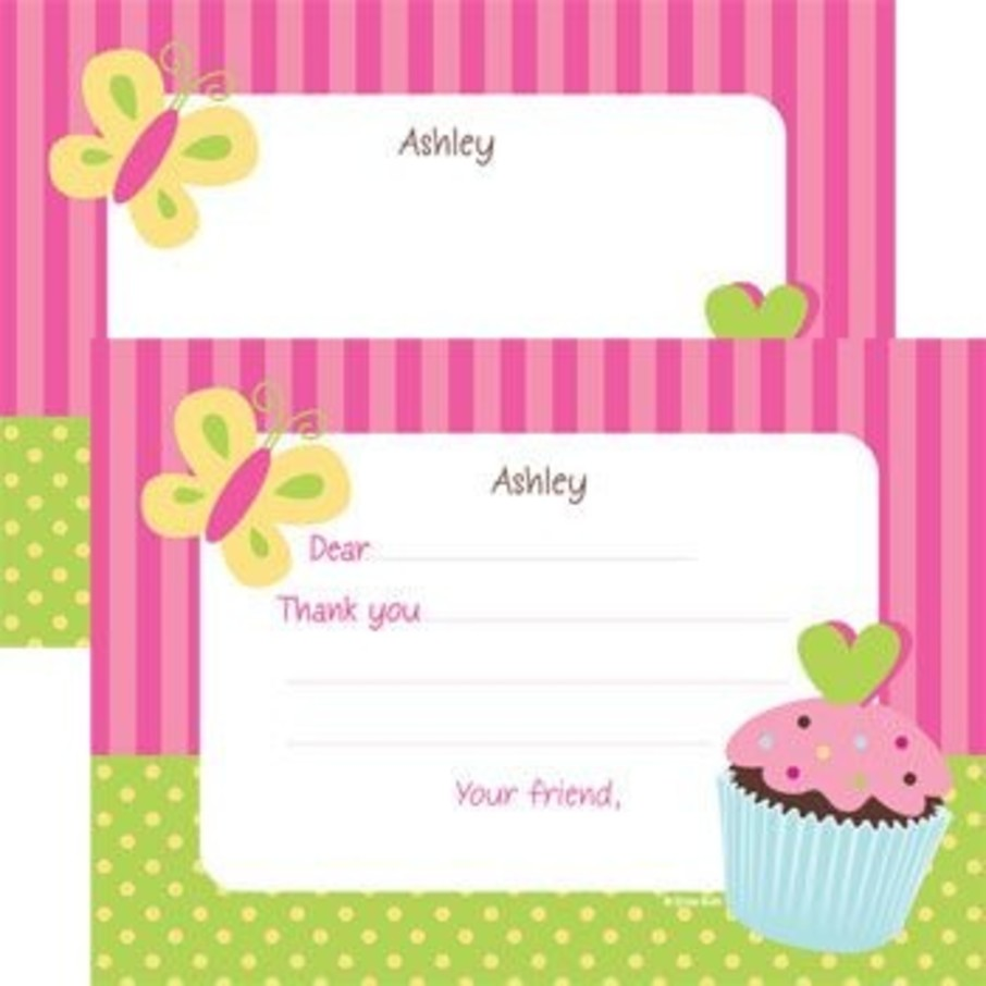 View larger image of Cupcake Birthday Personalized Thank You Note (each)