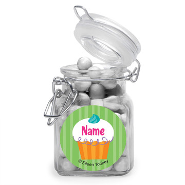 Cupcake Party Personalized Glass Apothecary Jars (12 Count)