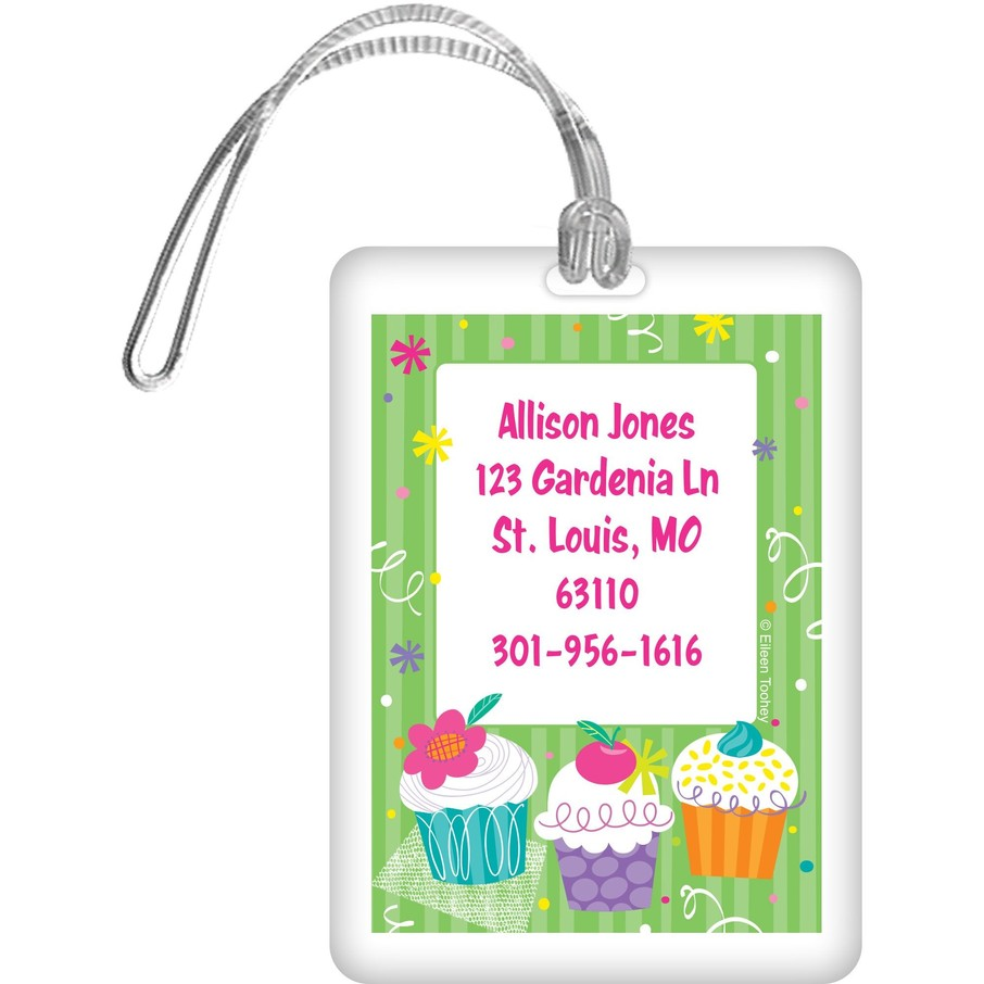 View larger image of Cupcake Party Personalized Luggage Tag (each)