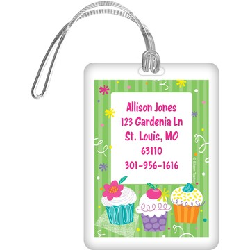 Cupcake Party Personalized Luggage Tag (each)