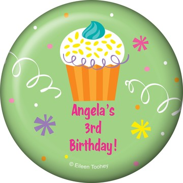 Cupcake Party Personalized Magnet (each)