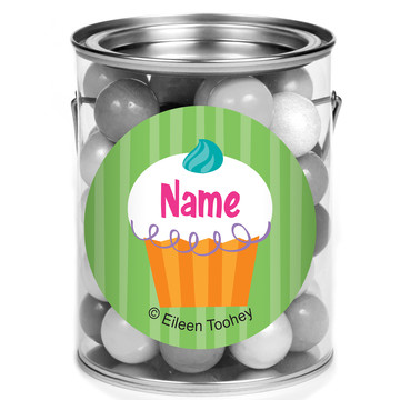 Cupcake Party Personalized Mini Paint Cans (12 Count)