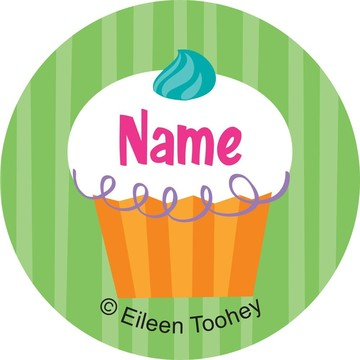 Cupcake Party Personalized Mini Stickers (Sheet of 24)