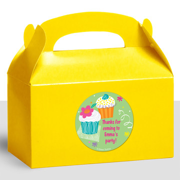 Cupcake Party Personalized Treat Favor Boxes (12 Count)