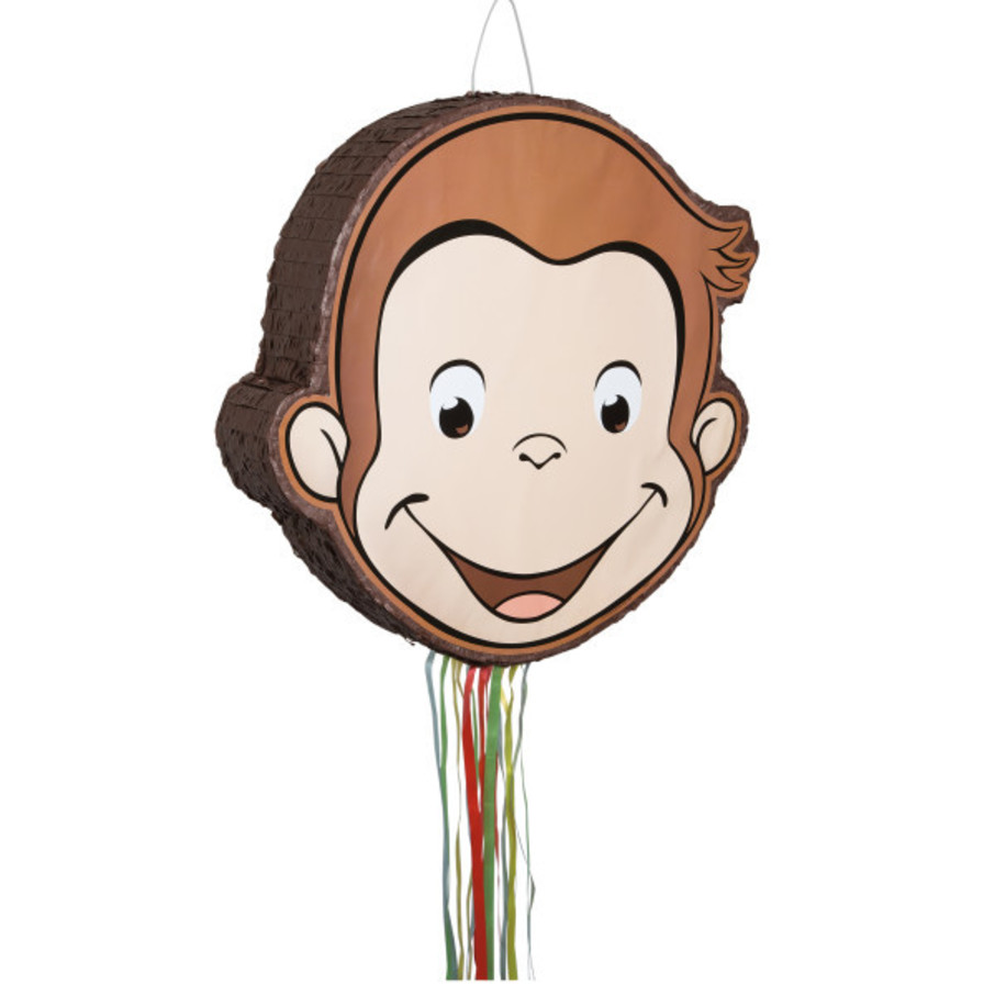 View larger image of Curious George Pull String Pinata