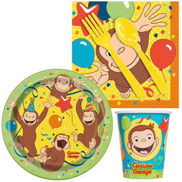 Curious George Standard Tableware Kit (Serves 8)