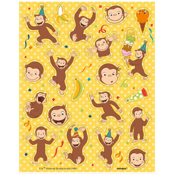 Curious George Sticker Sheets (4)