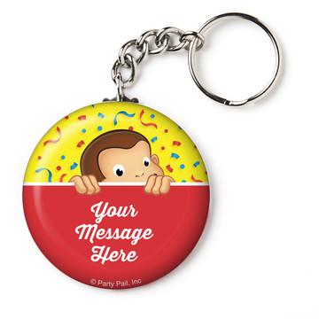 "Curious Monkey Personalized 2.25"" Key Chain (Each)"
