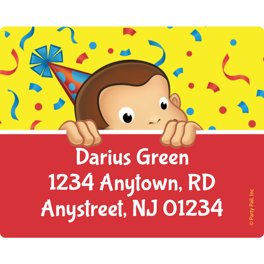 View larger image of Curious Monkey Personalized Address Labels (Sheet of 15)