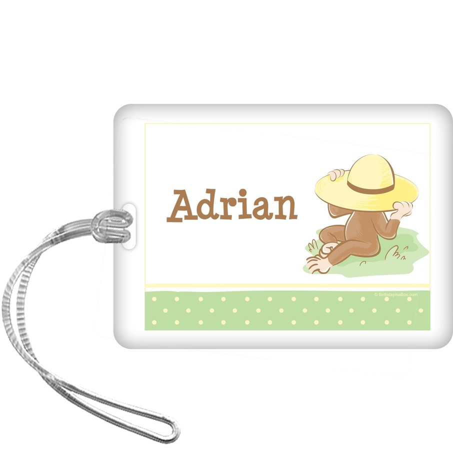 View larger image of Curious Monkey Personalized Bag Tag (each)