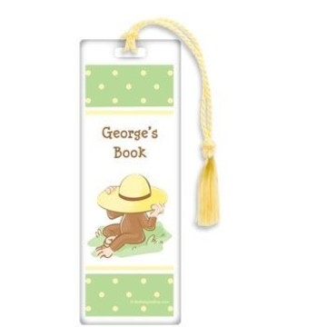 Curious Monkey Personalized Bookmark (each)