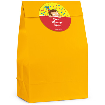 Curious Monkey Personalized Favor Bag (12 Pack)
