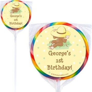 Curious Monkey Personalized Lollipops (pack of 12)