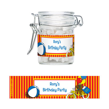 Curious Monkey Personalized Swing Top Apothecary Jars (12 ct)