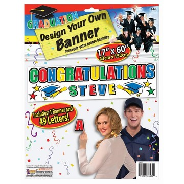 Customizable Graduation Banner