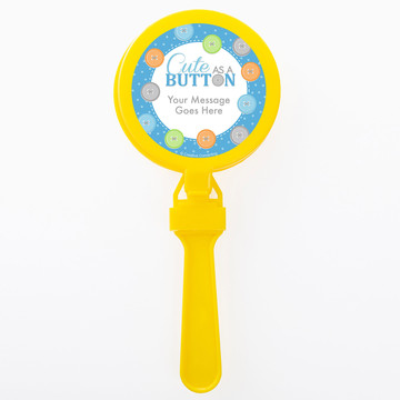 Cute as a Button Boy Personalized Clappers (Set of 12)
