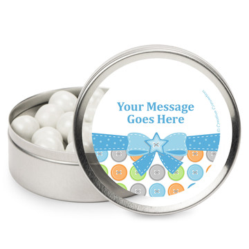 Cute as a Button Boy Personalized Mint Tins (12 Pack)